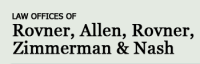 The Law Firm of Rovner, Allen, Rovner, Zimmerman & Nash Logo