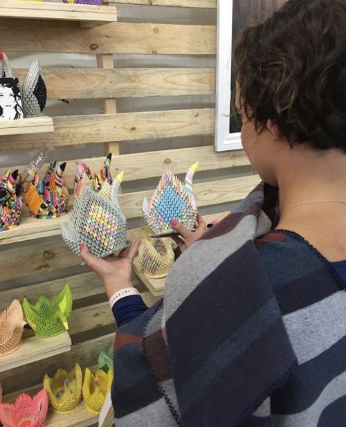Origami Swan Sculptures 06'