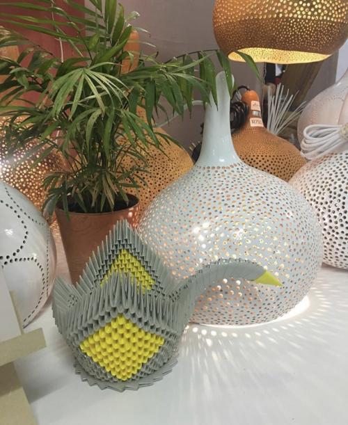 Origami Swan Sculptures 09'