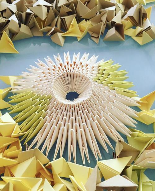 Origami Swan Sculptures 10'
