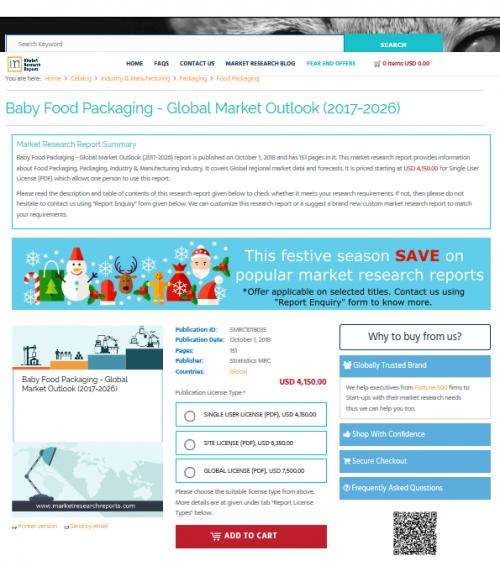 Baby Food Packaging - Global Market Outlook (2017-2026)'