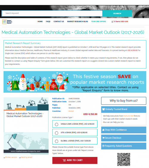 Medical Automation Technologies - Global Market Outlook'