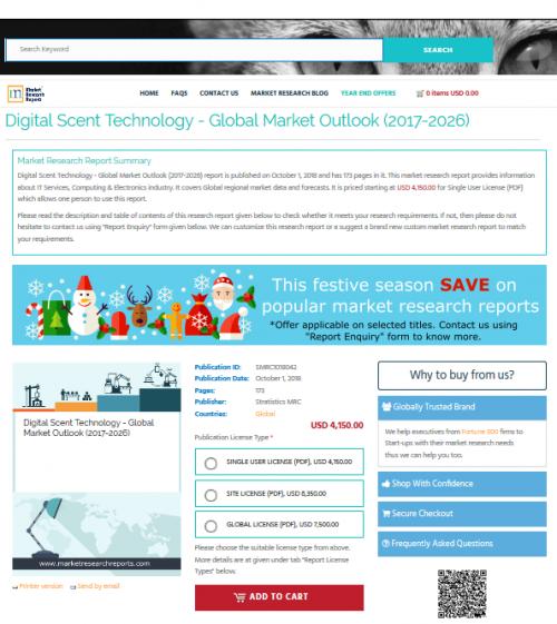 Digital Scent Technology - Global Market Outlook (2017-2026)'