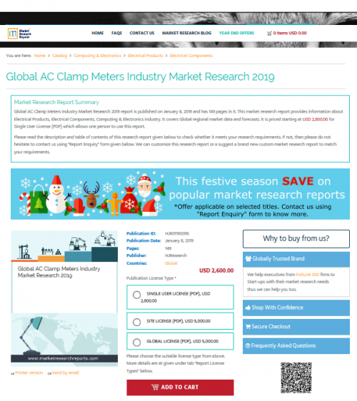 Global AC Clamp Meters Industry Market Research 2019'