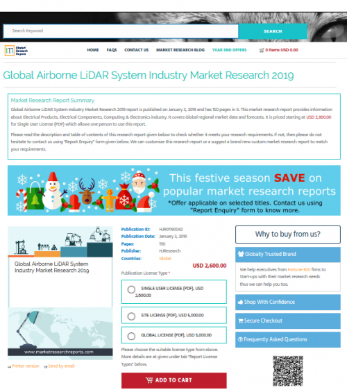 Global Airborne LiDAR System Industry Market Research 2019'