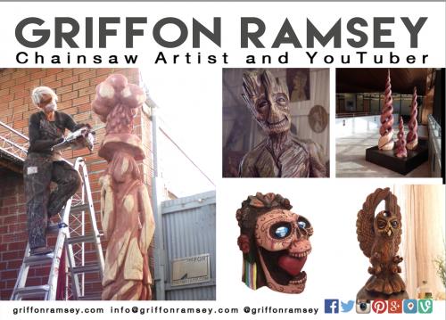 Austin-Based International Chainsaw Sculptor Griffon Ramsey'