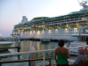 Cruise ship in the Port of Key West by pbnich'
