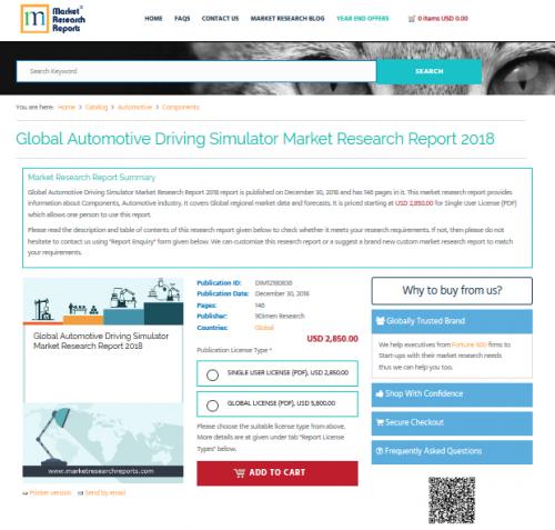 Global Automotive Driving Simulator Market Research Report'