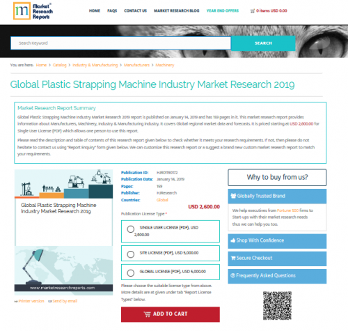 Global Plastic Strapping Machine Industry Market Research'