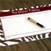Personalized Zebra Desk notepad'