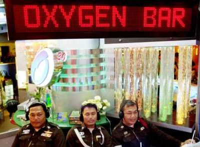 Oxygen Bars. The Latest Source of Refreshment'