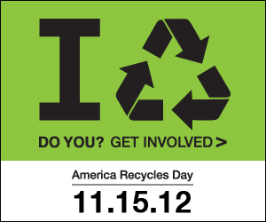 America Recycles Day November 15th'