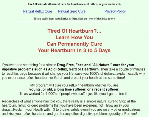 cure your heartburns review'