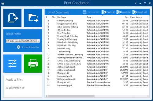 Print Conductor Screenshot'