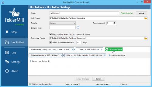 FolderMill Screenshot'