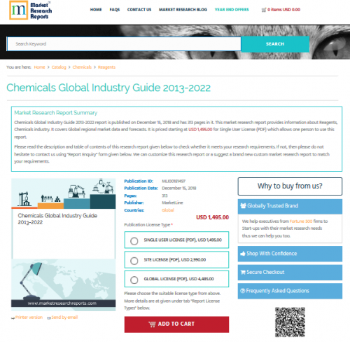 Chemicals Global Industry Guide 2013-2022'