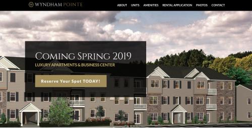EZMarketing Develops New Website for Wyndham Pointe Apartmen'