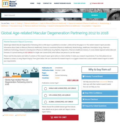 Global Age-related Macular Degeneration Partnering 2018'