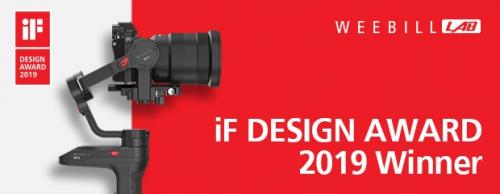 Zhiyun Weebill LAB Wins an iF Design Award 2019'