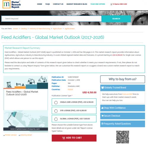 Feed Acidifiers - Global Market Outlook (2017-2026)'
