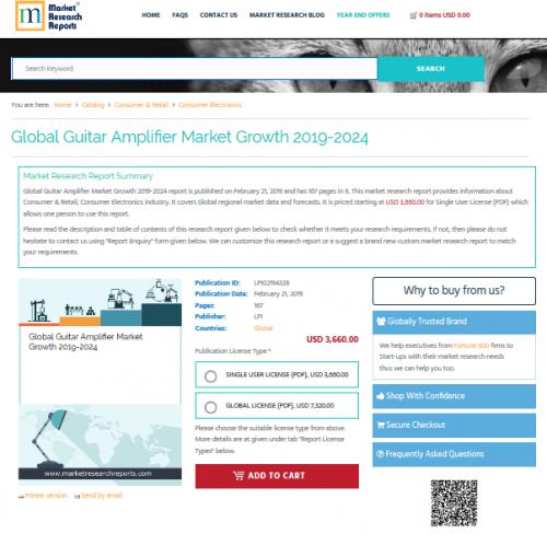 Global Guitar Amplifier Market Growth 2019-2024'