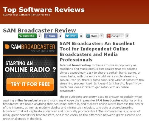 Sam broadcaster Review'