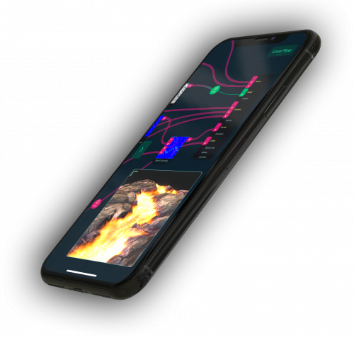 Shade on iPhone'