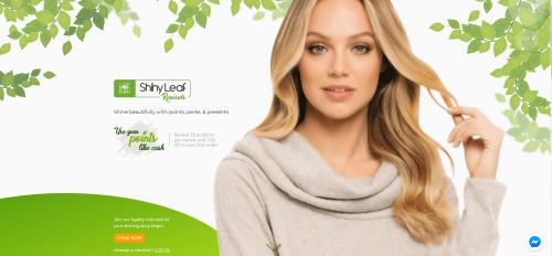 Shiny Leaf Rewards Website'
