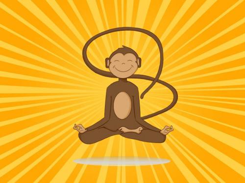 Meditating Monkey'