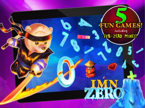 Ice Math Ninja: ZERO, Free for iOS'