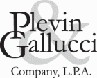 Logo for Plevin & Gallucci Company, L.P.A.