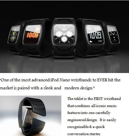 Teklet to Provide Innovative and Stylish Wristband for iPod'