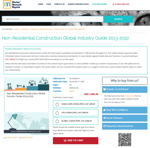 Non-Residential Construction Global Industry Guide 2013-2022'