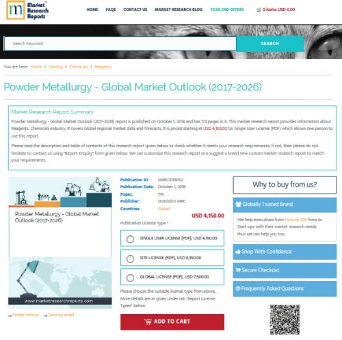 Powder Metallurgy - Global Market Outlook (2017-2026)'