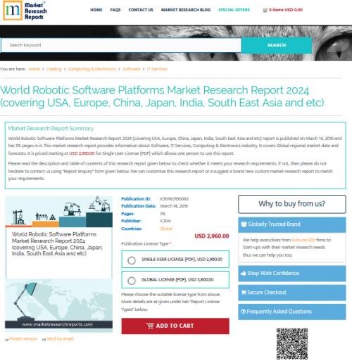 World Robotic Software Platforms Market Research Report 2024'