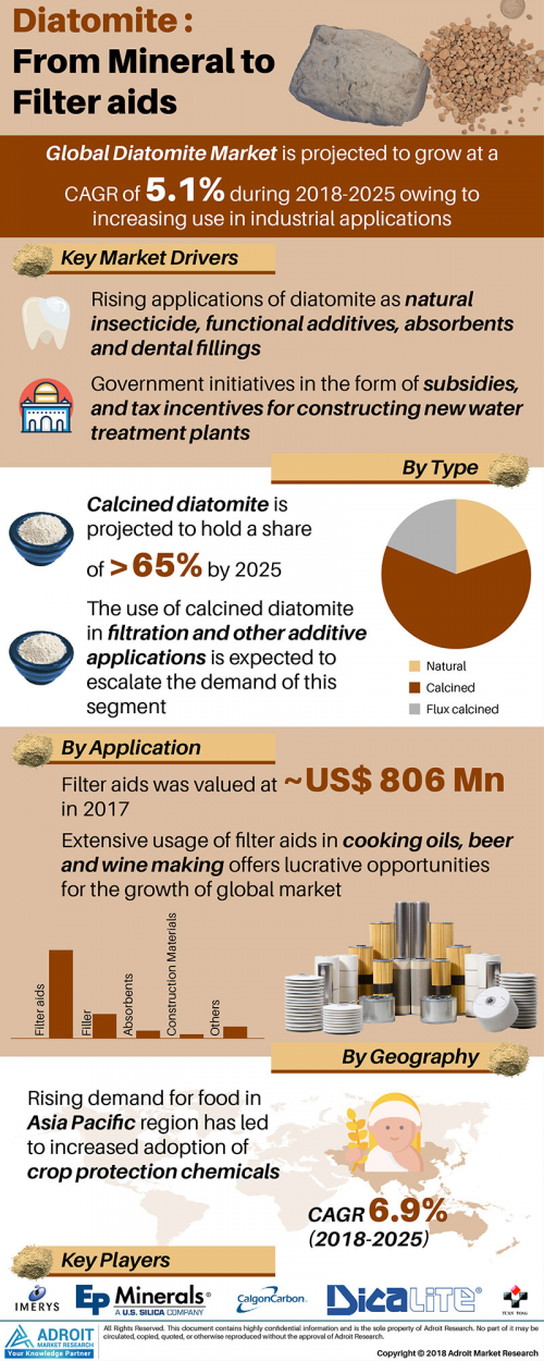 Diatomite Market Size, Share, Trends   Industry Analysis, 20'