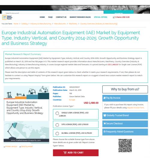 Europe Industrial Automation Equipment (IAE) Market'
