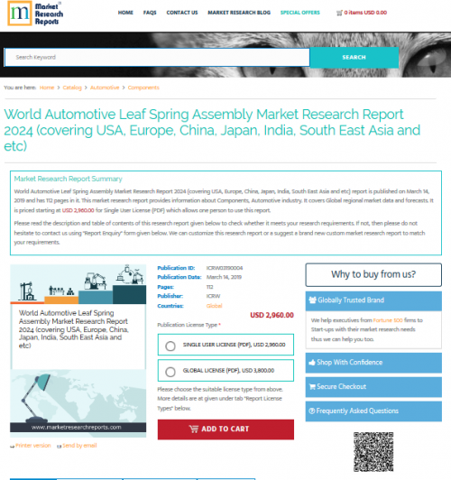 World Automotive Leaf Spring Assembly Market Research Report'