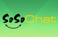 Logo for SoSo Chat'