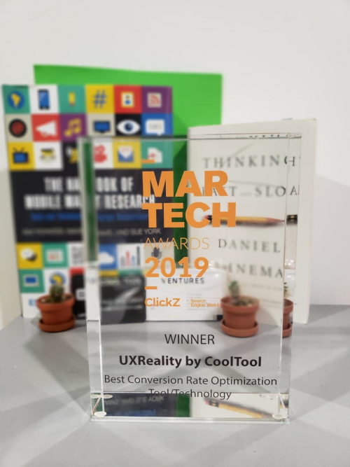 MarTech Award UxReality - best CRO Tool'