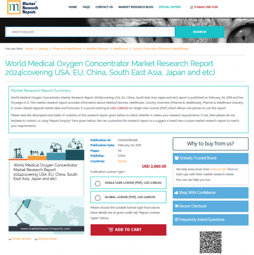 World Medical Oxygen Concentrator Market Research Report'