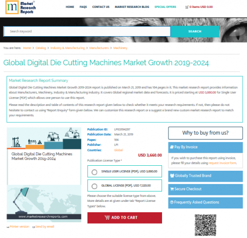Global Digital Die Cutting Machines Market Growth 2019-2024'