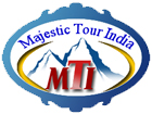 Logo for Majestic Tour India'