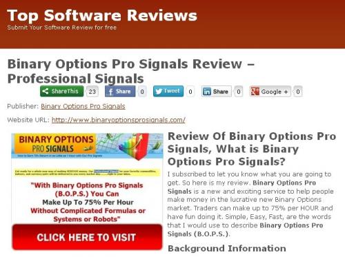 Binary Options Pro Signals'