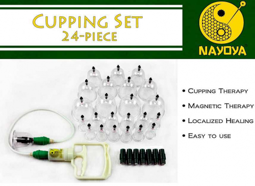 24-Piece Cupping Therapy set from Nayoya'