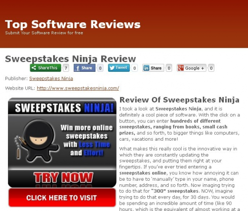 Sweepstakes Ninja'