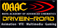Maya Academy Of Advance Cinematics - Drive in Road Logo