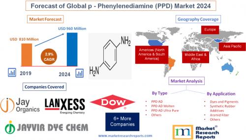 Forecast of Global p-Phenylenediamine (PPD) Market 2024'
