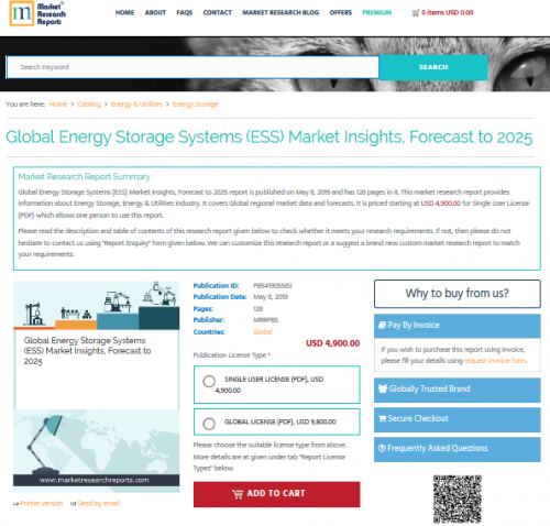 Global Energy Storage Systems (ESS) Market Insights'