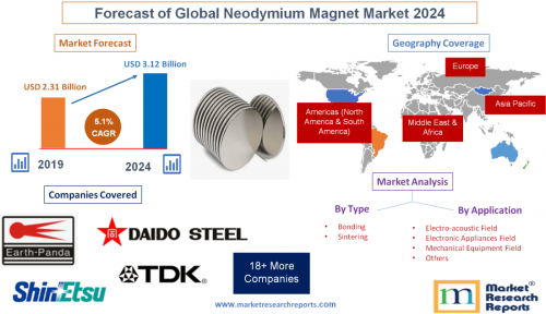 Forecast of Global Neodymium Magnet Market 2024'